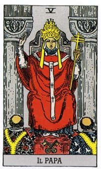 V Иерофант Папа Жрец Карты Таро в стихах