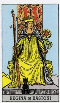Королева Жезлов Карты Таро в стихах