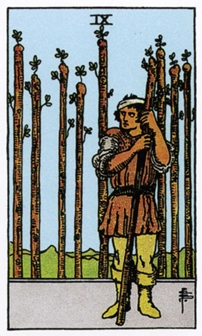 IX Жезлов Карты Таро в стихах