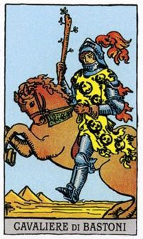 Рыцарь Жезлов Карты Таро в стихах