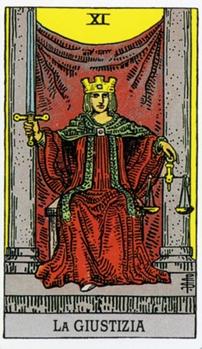 XI Правосудие Справедливость Карты Таро в стихах